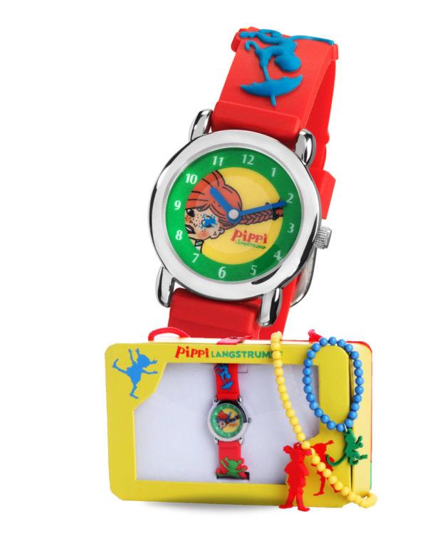 Pippi Langstrumpf -Armbanduhr- Geschenkset